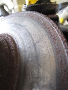 Very rusty brake disc