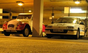 Honda Civic and 2cv friend