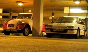 Honda Civic and 2cv friend