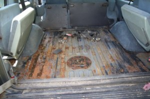 Land Rover Discovery boot floor