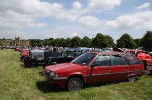 Allowed to park in the classic section at the All Rover Rally