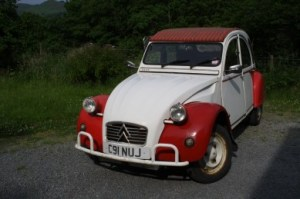 2CV Dolly red and white