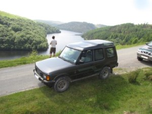Pausing at Llyn Brianne after some grey laning