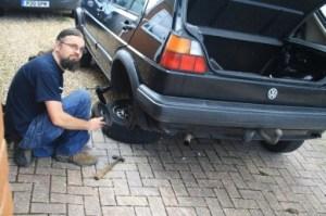 Essential party preparation. Rear brake overhaul
