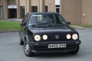 VW Golf Mk2 non-GTI five door clear indicators