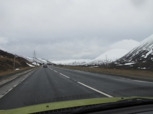 Very pretty, but thankfully the roads were clear