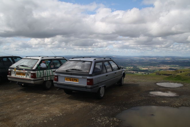 My new BX sits alongside my old one in 2012