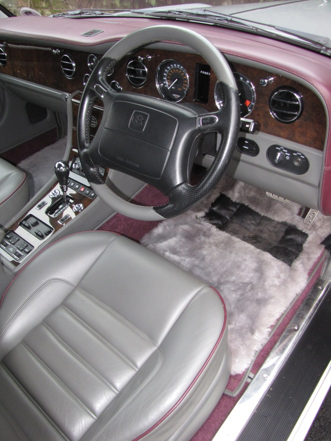 Inside a Bentley
