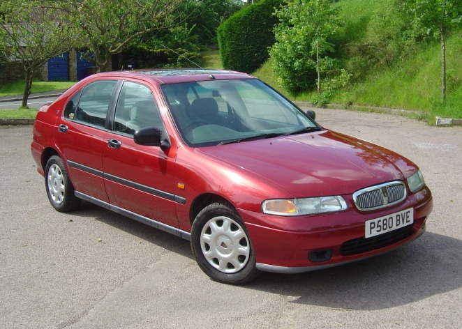 Our previous Rover 400. Looks were always a bit bland