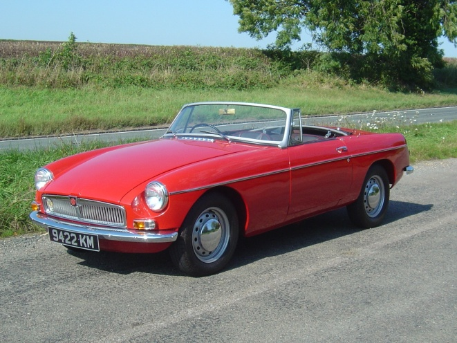 The first MGB I drove, an early three-synchro model. Lovely!