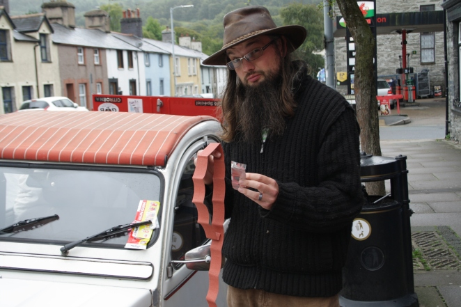 Me and my materials of bodgery. Which I fitted wrongly...