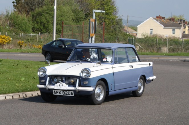 Triumph Herald is thoroughly charming and quite different too.