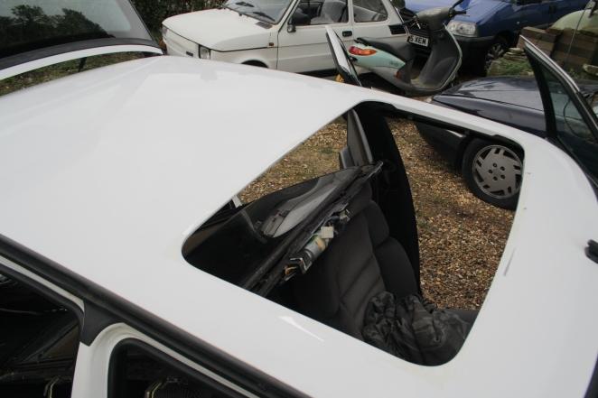 Fresh air motoring! Quite a big hole