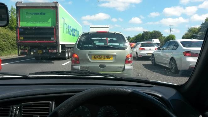 Stationary traffic. Ugh.