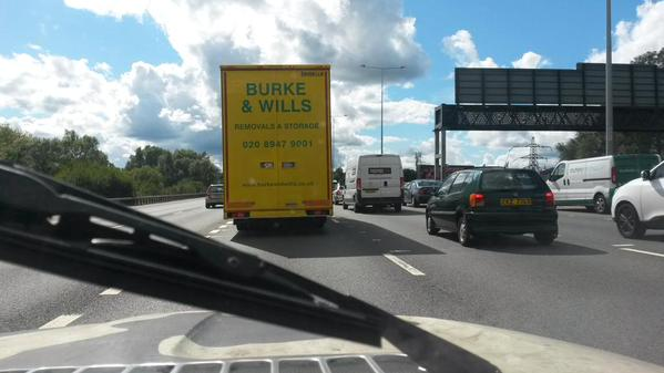Stationary on the M25. Quelle surprise.