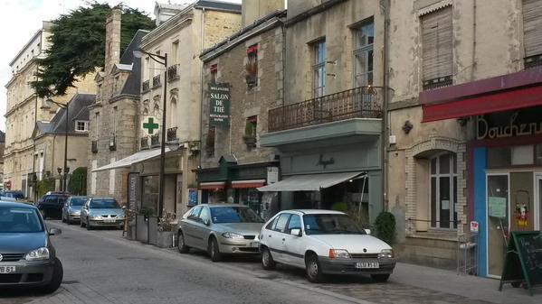A wonderful street scene in Alençon. Very French.