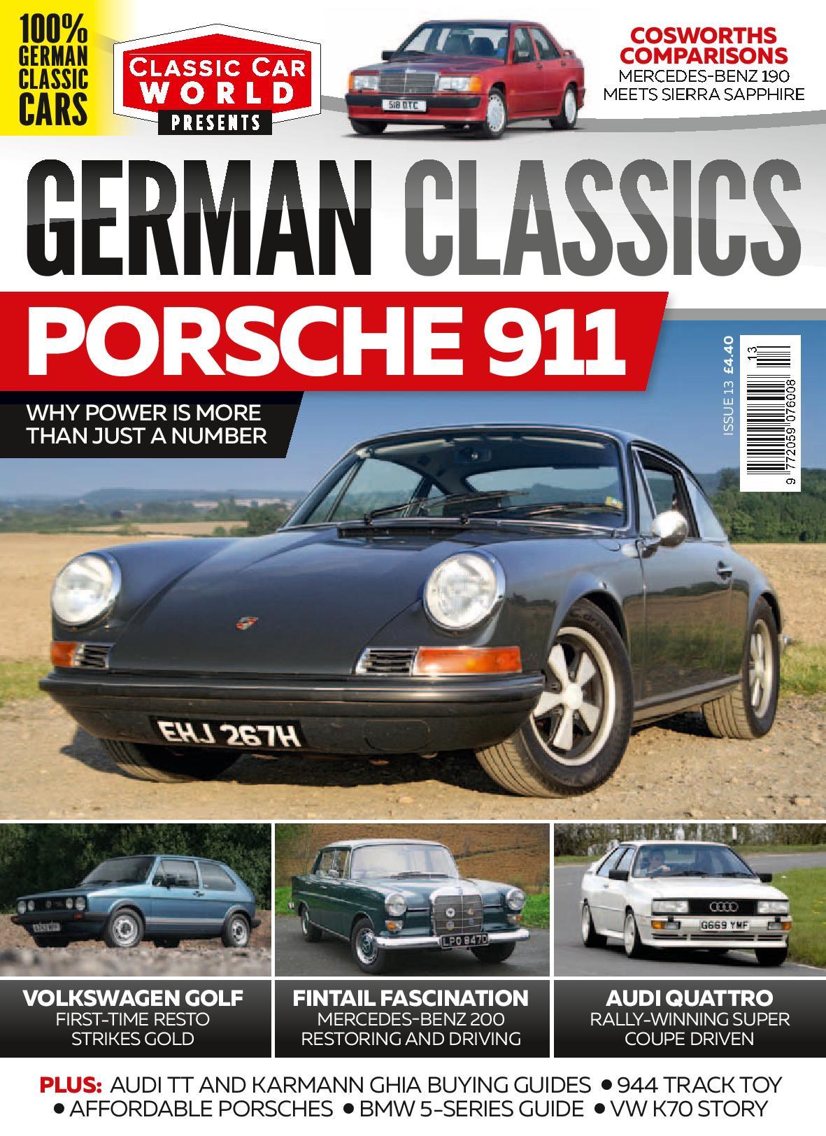 German Classics Magazine cover – HubNut – celebrating the average!
