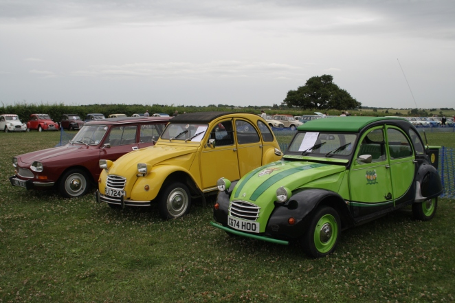 A friend's delicious hand-painted 2CV in a shiny line up.