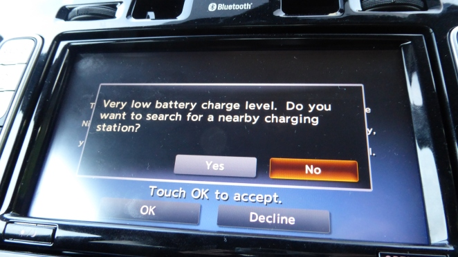 Even the LEAF was worried. Not that it could find any charging stations in mid-Wales!