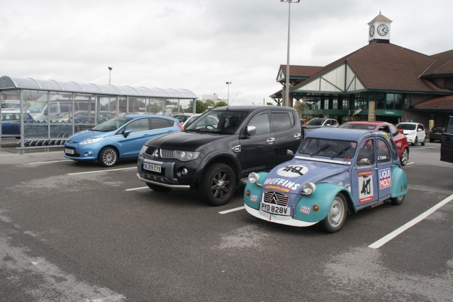 An utterly ridiculous vehicle for shopping. And a race 2CV.