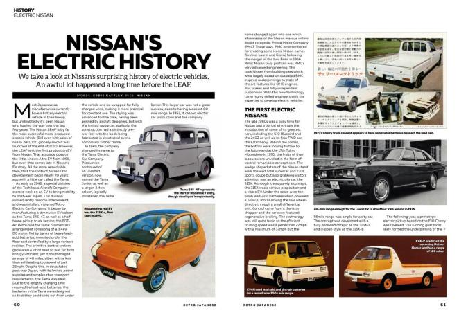 Nissan's fascinating electric history, by Eddie Rattley.