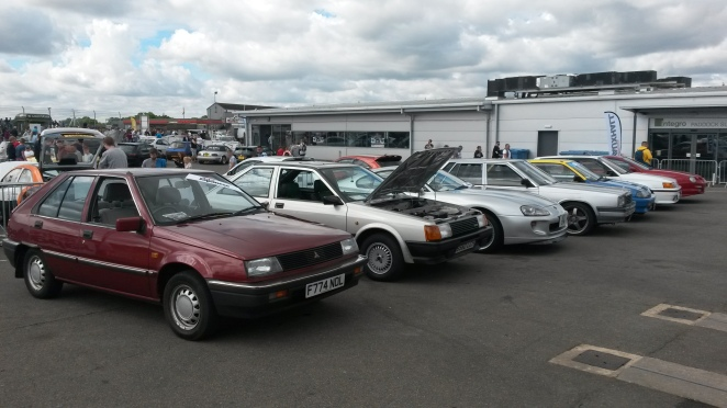 Retro Japanese display at the Fast Car Festival 2016